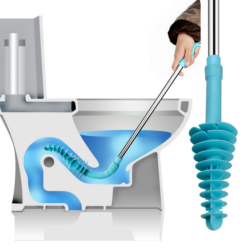 Toilet Plunger, Samshow Toilet Dredge Designed for Siphon-Type, Power Cleaned Toilet Pipe, Patented